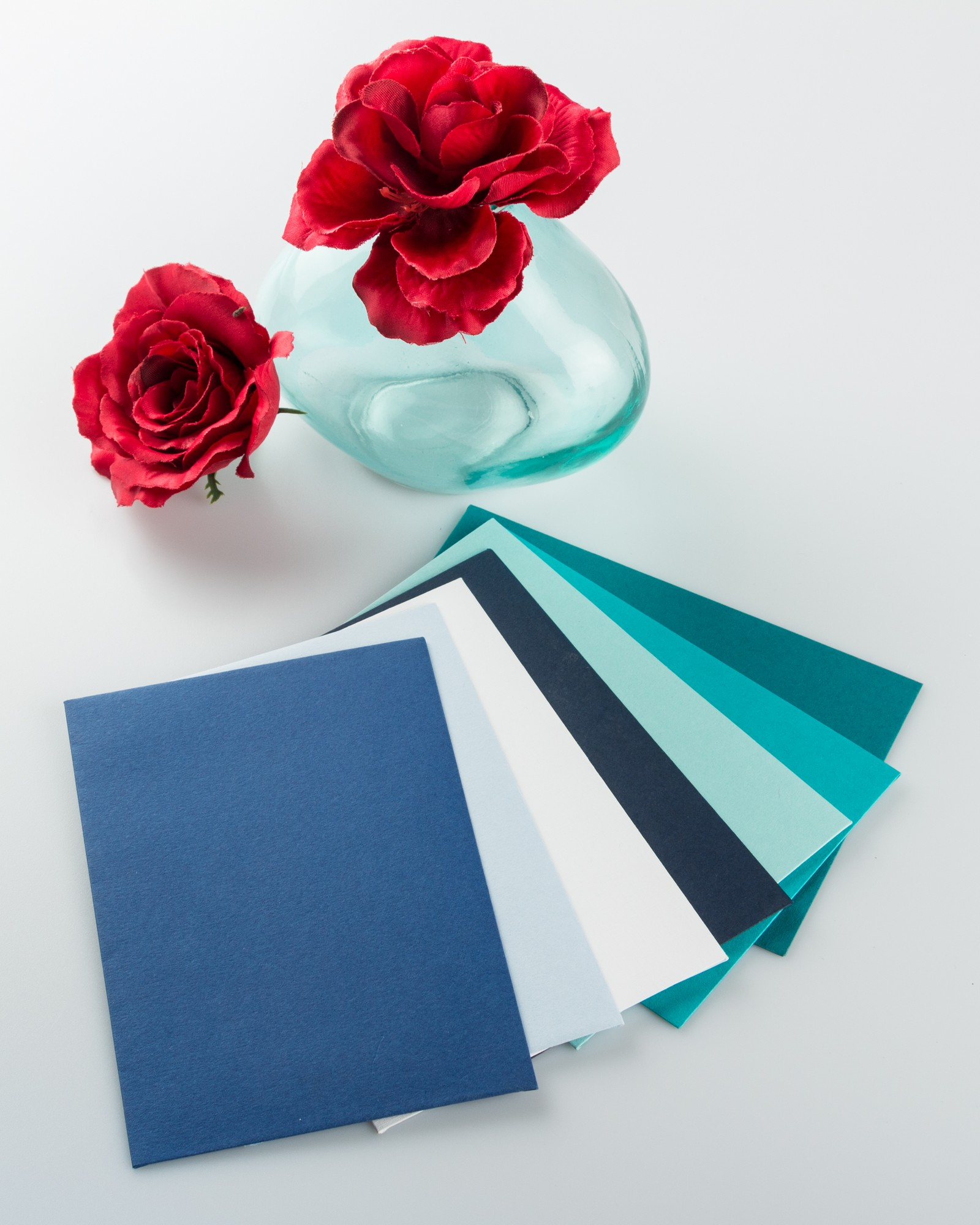 blue color coordinated paper for office