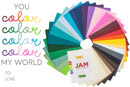punny valentine's day cards, color my world, colored envelopes