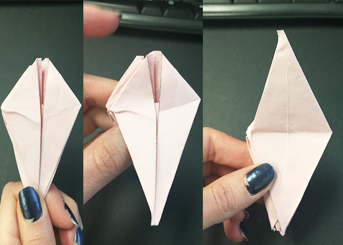 How To Make Paper Origami Easter Lilies, Folding, Fold, Paper, flower, shapes