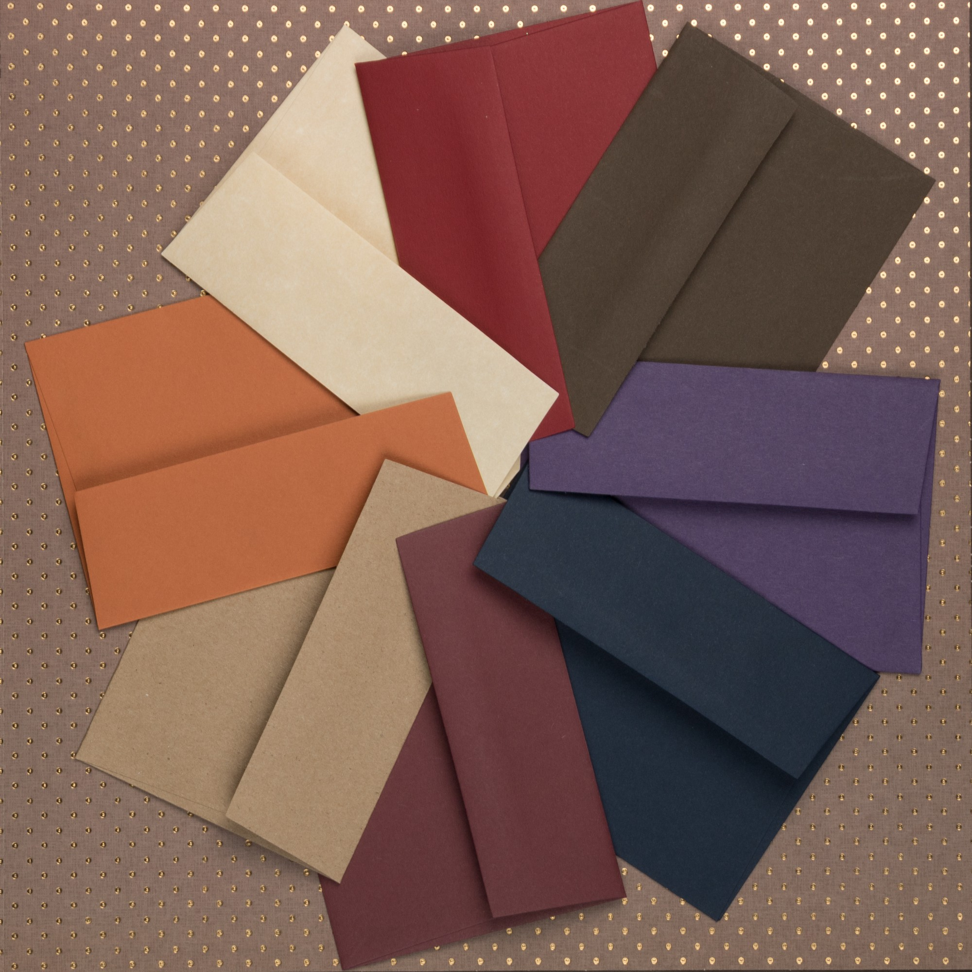 fall envelopes, color array, office, work, school
