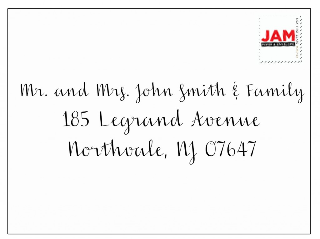 family - Address Wedding Invitations