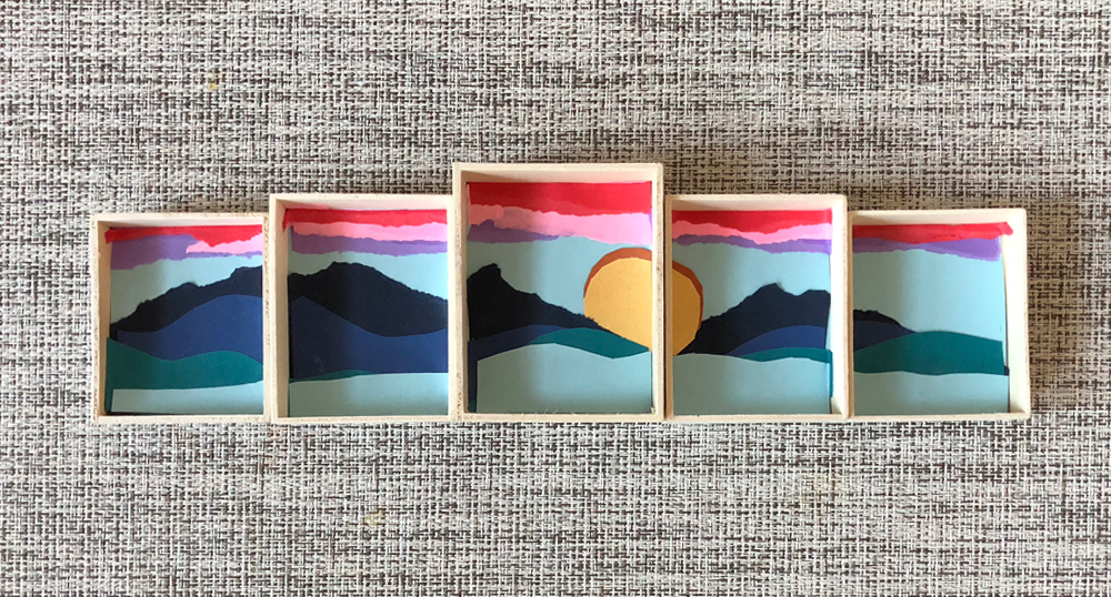 Completed DIY sunset canvas