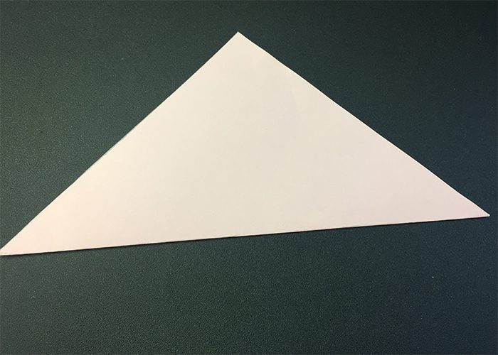 paper folded into triangle