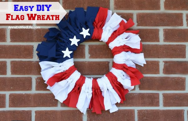flag wreath, diy flag, american flag, diy crafts