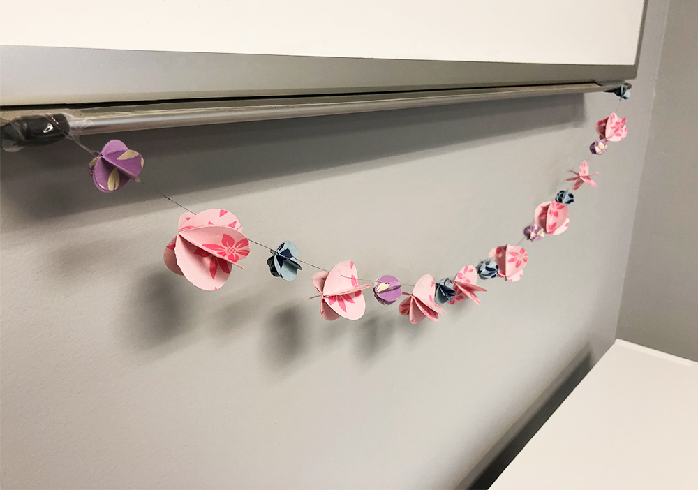 How to Make a 3D Paper Garland, paper, garland, decoration