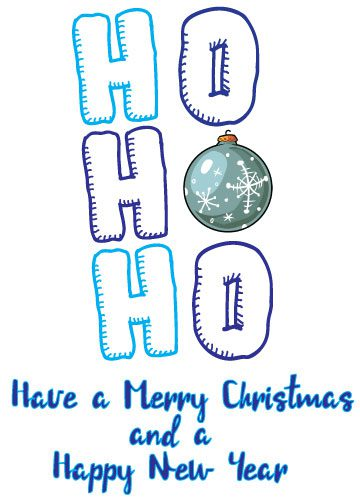 white background with blue text and christmas ornament printable christmas cards