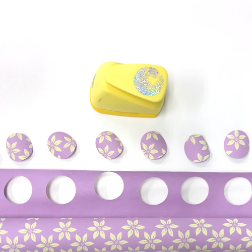 How to Make a 3D Paper Garland, hole punch, circles