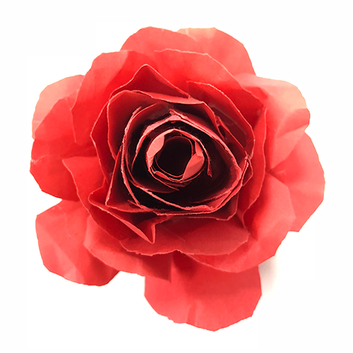 how to make paper roses, paper rose, craft