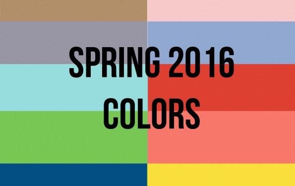 Spring 2016 Colors