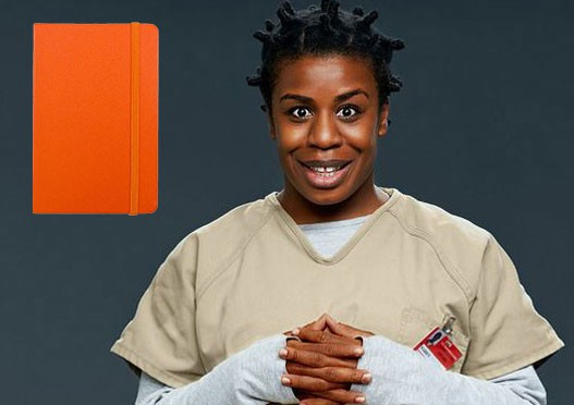 Suzanne 'Crazy Eyes' Warren orange notebook