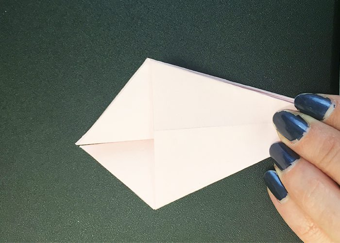 How To Make Paper Origami Easter Lilies, Fold, paper, Pink, Origami, fingers
