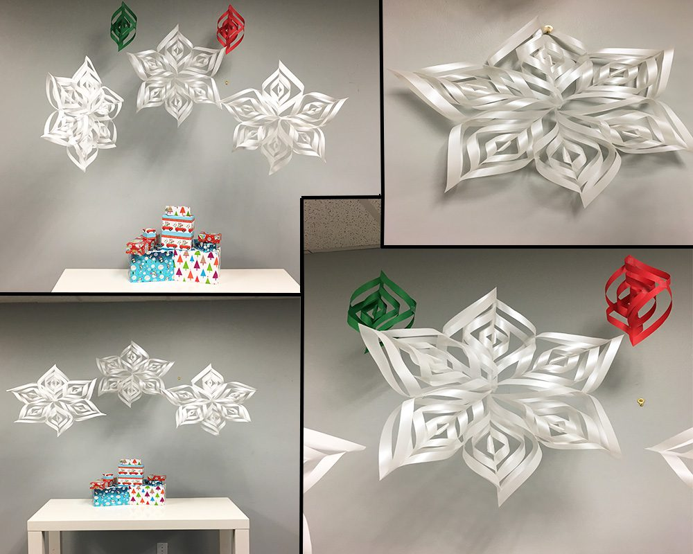 Diy Geometric Hanging Paper Snowflakes Decorations