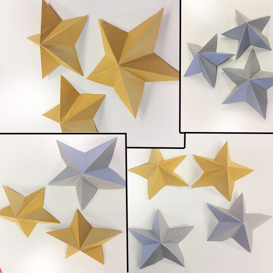 DIY Shiny Kirigami Stars for New Year's Decorating