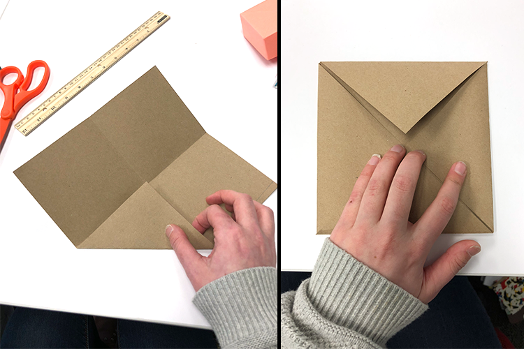 how to make a paper box, scissors, folding, origami