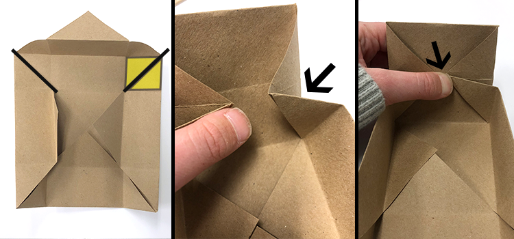 how to make a paper box, pinch, arrows, paper