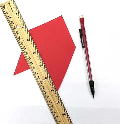 red paper, diy bookmark, paper crafts