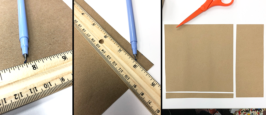 how to make a paper box, measure, cut, pieces of paper