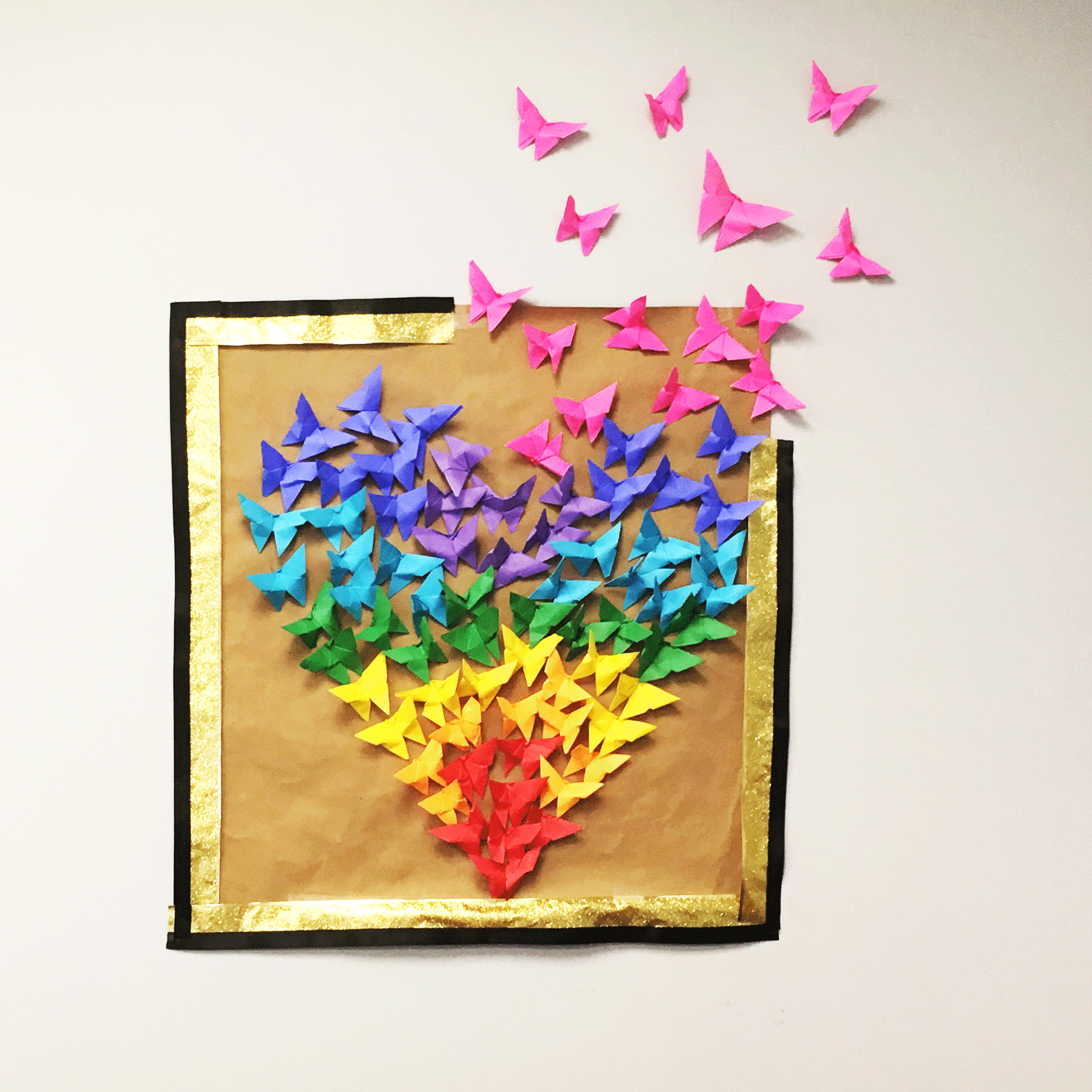 Cool Paper Butterfly Heart Wall Art Jam Blog For Decoration With Ribbons Nar
