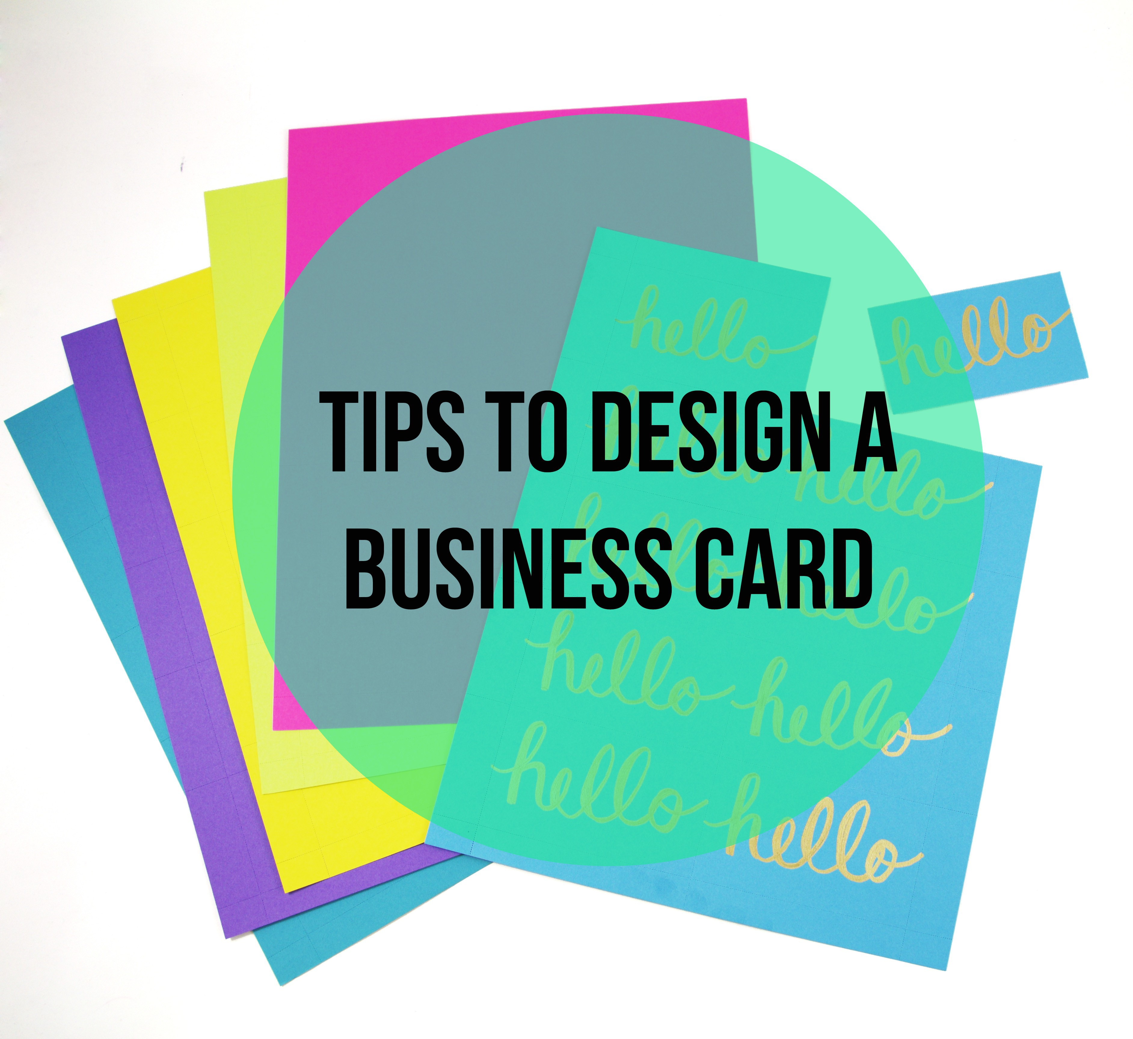 Design a Business Card Yourself with these Can\'t Miss Tips