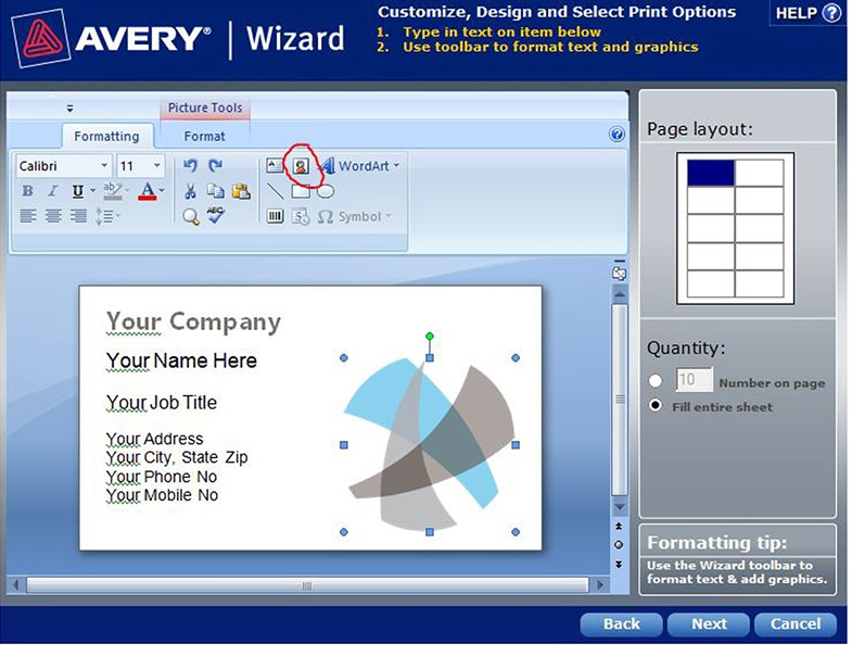 avery wizard for mac
