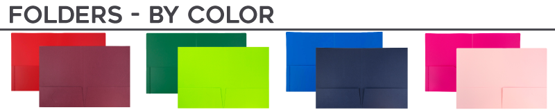 Two Pocket Folders - By Color