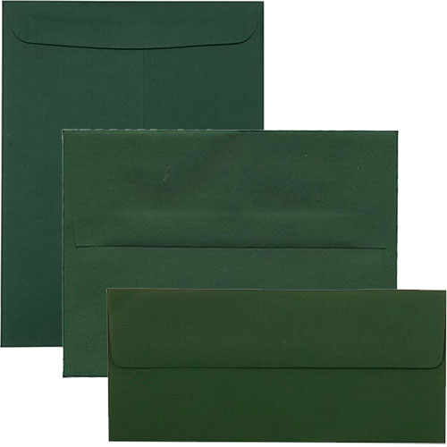 Green Square Envelopes