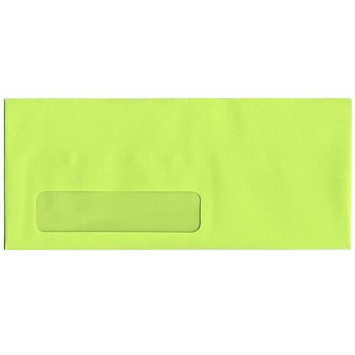 Ultra Lime Green #10 Window Envelopes