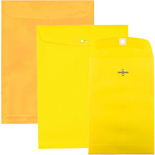Yellow & Ultra Lemon Clasp & Open End Envelopes