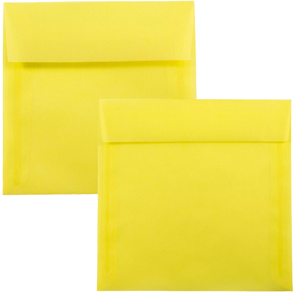 Yellow Square Envelopes