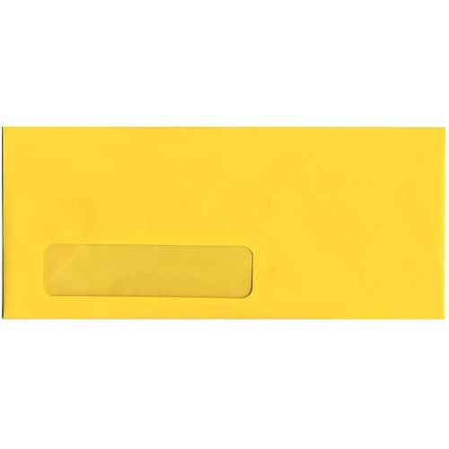 Yellow #10 Business Window Envelopes