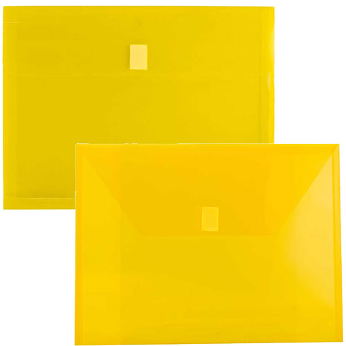 Yellow Plastic Envelopes with VELCRO®BrandClosure