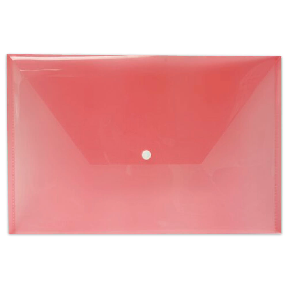 Pink Plastic Envelopes with Snap Closure