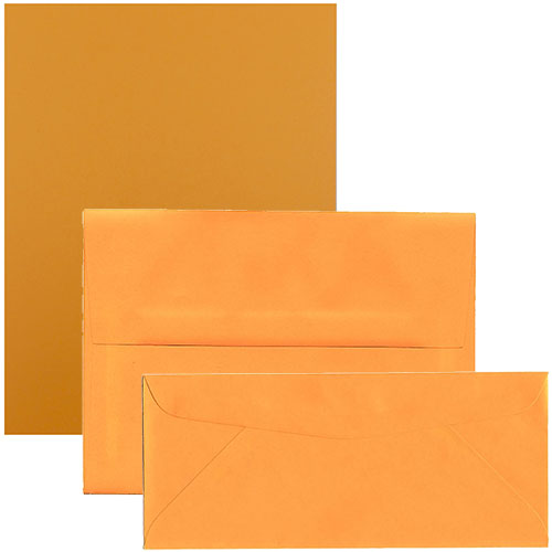 Ultra Orange Brite Hue Envelopes & Paper