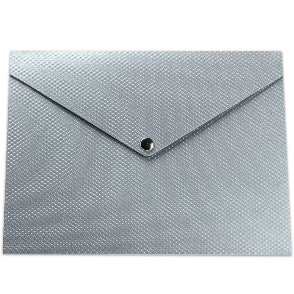 Silver Recycled Kraft Letter Snap Portfolios