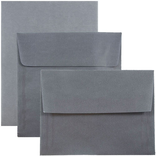 Charcoal Grey Translucent Envelopes & Paper