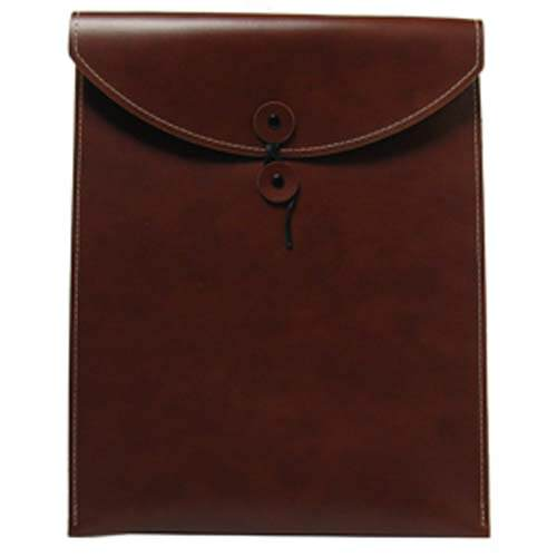 Brown Leather Button & String Envelopes