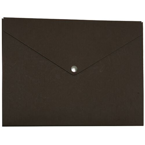 Chocolate Brown Snap Closure Portfolio Envelopes