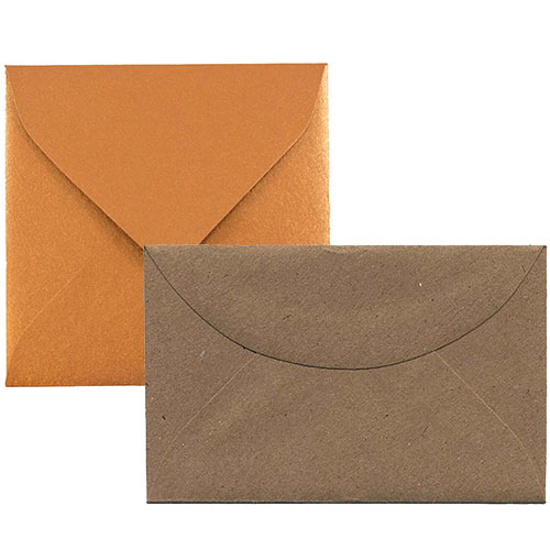 Brown Tiny Envelopes