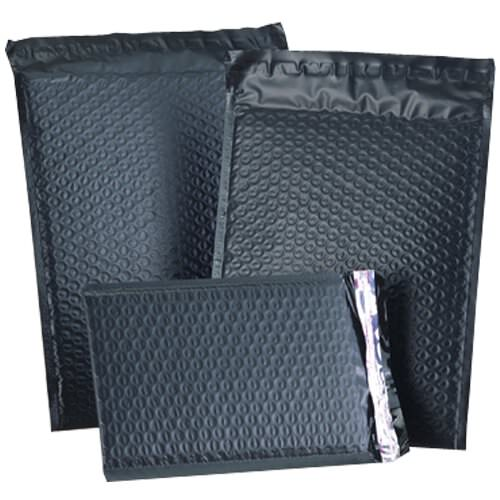 Black Matte Padded Mailers -Self Adhesive Closure
