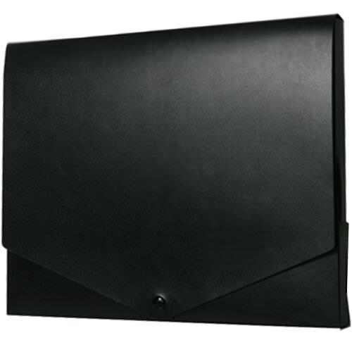 Black Plastic Snap Closure Portfolio Envelopes