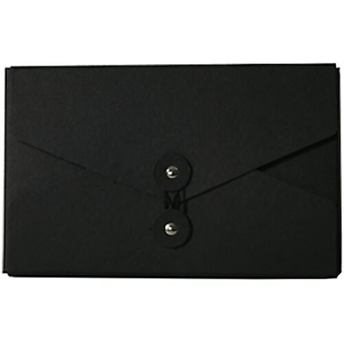 Black Kraft Button & String Closure Portfolios