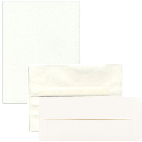 White Recycled Parchment Envelopes & Paper