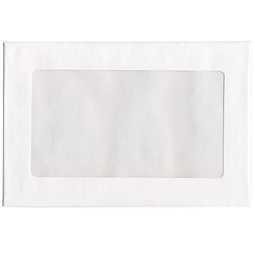White Window Display Envelopes