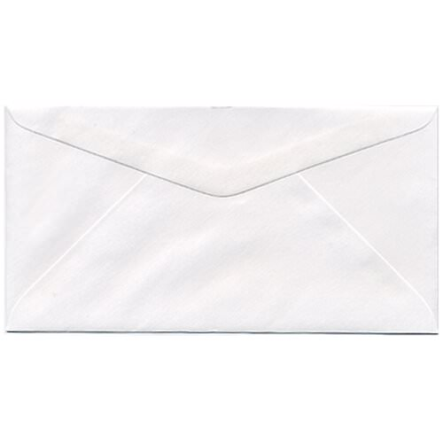 White Monarch Envelopes - 3 7/8 x 7 1/2