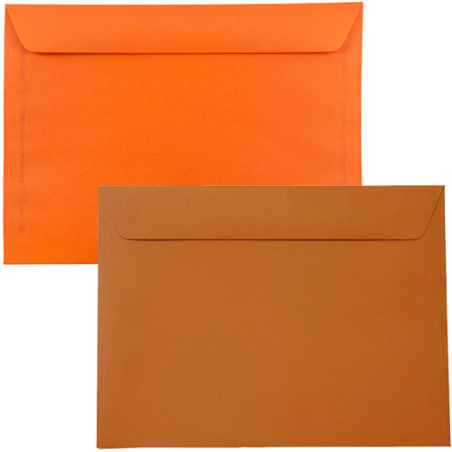 Orange Large Paper Booklet Envelopes