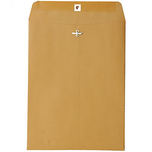 open brown Manila Envelope with clasp closure