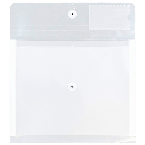 Plastic Button & String Envelope with Dividers