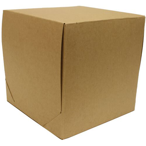 9 x 9 x 9 Kraft Full Lid 2 piece Gift Box
