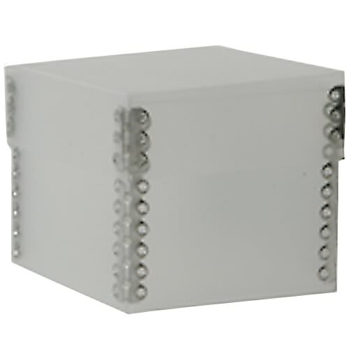 3 1/4 x 3 1/4 x 2 3/4 Clear Frost Plastic Boxes