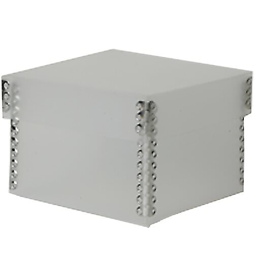 4 1/4 x 4 1/4 x 3 Clear Frost Plastic Box